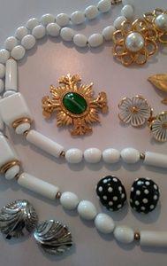 Vintage jewelry designer costume lot Trifari Monet